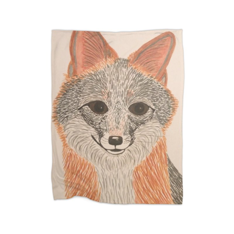 Grey Fox Home Blanket by Whimsical Wildlife Wares