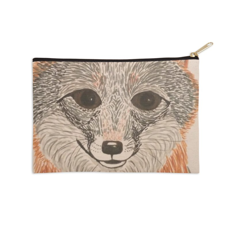 Grey Fox Accessories Zip Pouch by Whimsical Wildlife Wares