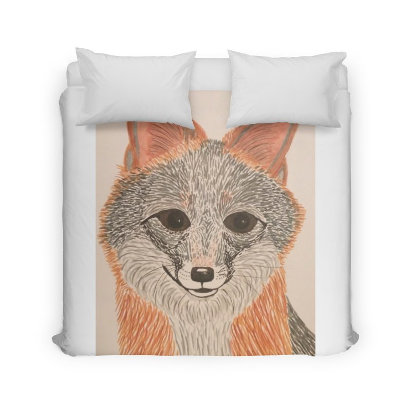 Grey Fox Home Duvet by Whimsical Wildlife Wares