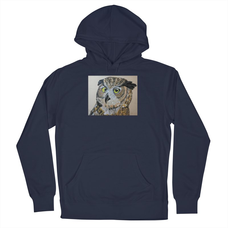 Great Horned Owl Women's Pullover Hoody by Whimsical Wildlife Wares
