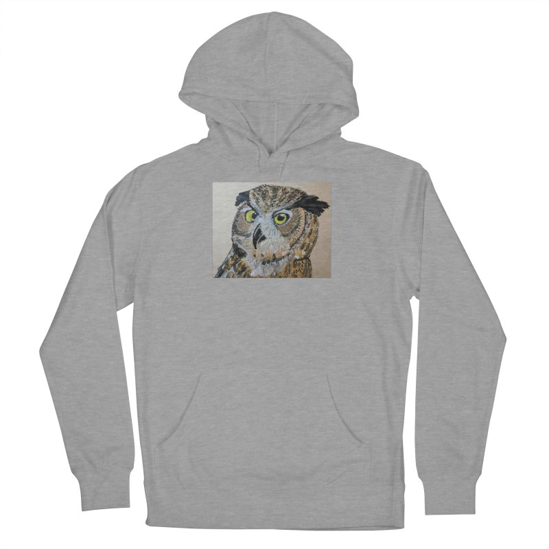 Great Horned Owl Men's Pullover Hoody by Whimsical Wildlife Wares