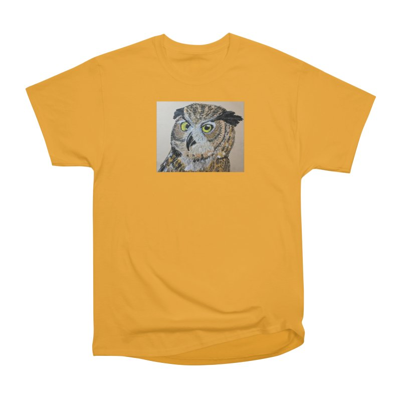 Great Horned Owl Men's Classic T-Shirt by Whimsical Wildlife Wares