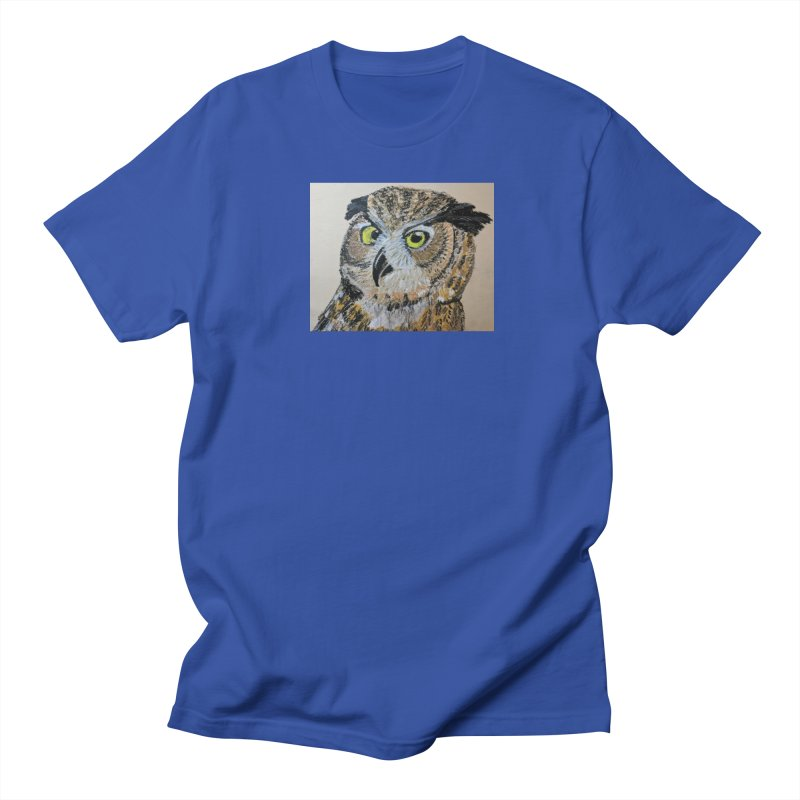 Great Horned Owl Men's T-Shirt by Whimsical Wildlife Wares