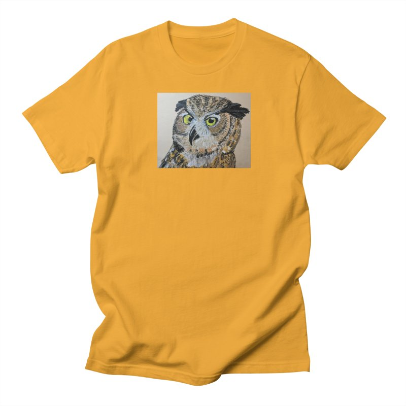 Great Horned Owl Women's Unisex T-Shirt by Whimsical Wildlife Wares