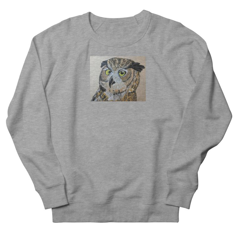 Great Horned Owl Women's Sweatshirt by Whimsical Wildlife Wares