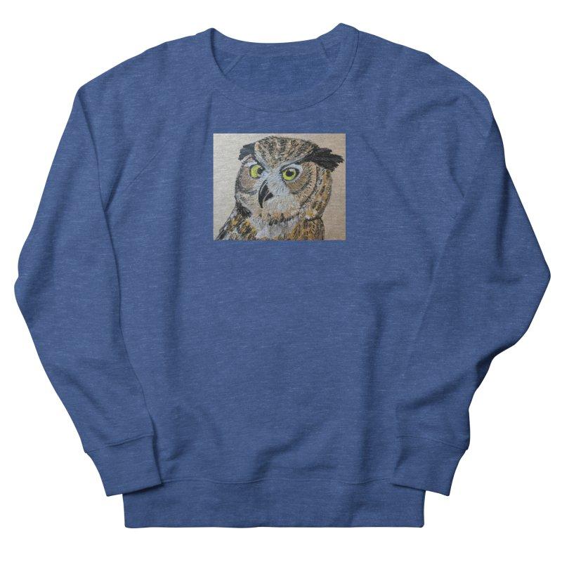 Great Horned Owl Men's Sweatshirt by Whimsical Wildlife Wares