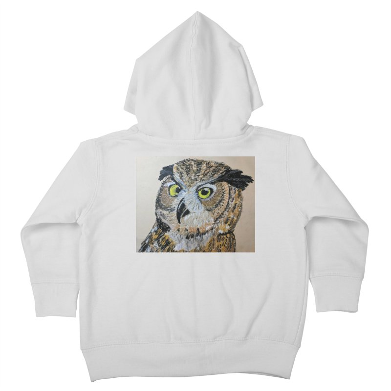 Great Horned Owl Kids Toddler Zip-Up Hoody by Whimsical Wildlife Wares