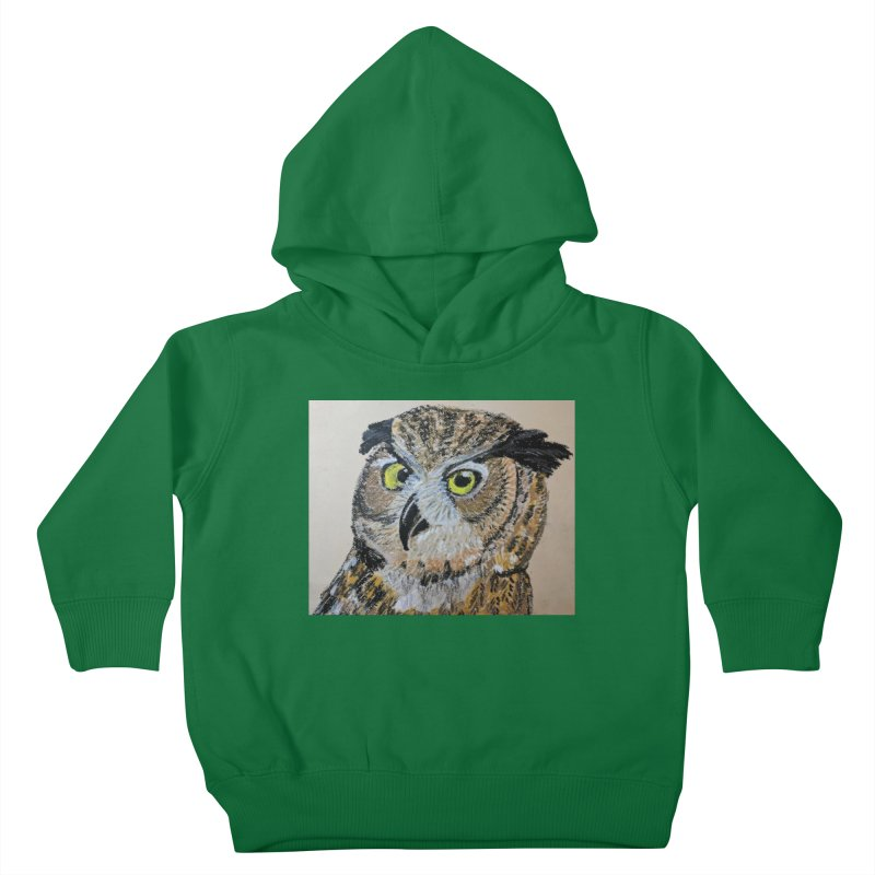 Great Horned Owl Kids Toddler Pullover Hoody by Whimsical Wildlife Wares