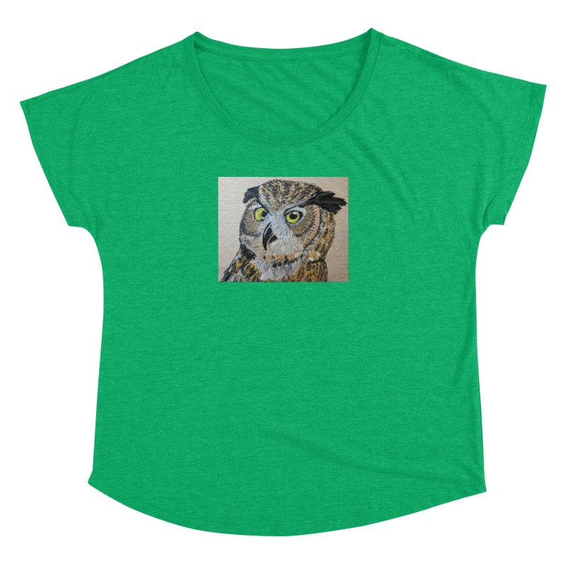 Great Horned Owl Women's Dolman by Whimsical Wildlife Wares