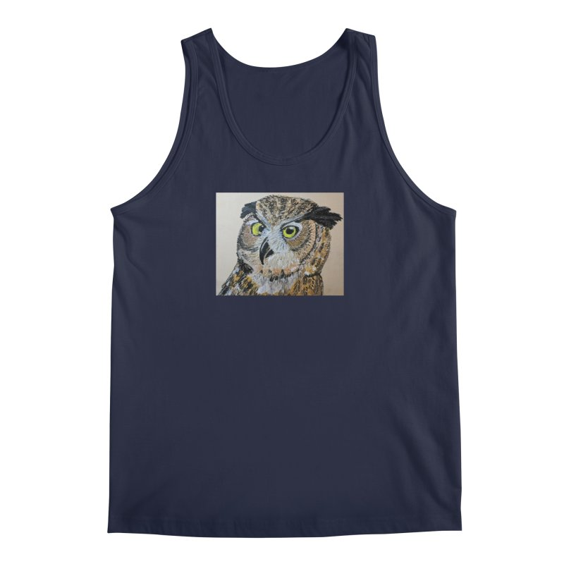 Great Horned Owl Men's Tank by Whimsical Wildlife Wares