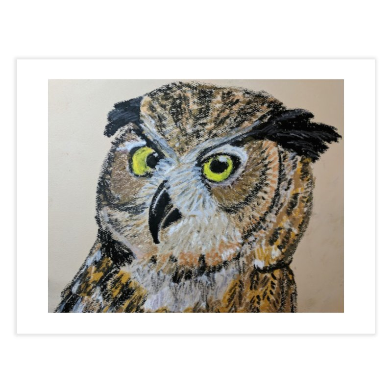Great Horned Owl Home Fine Art Print by Whimsical Wildlife Wares