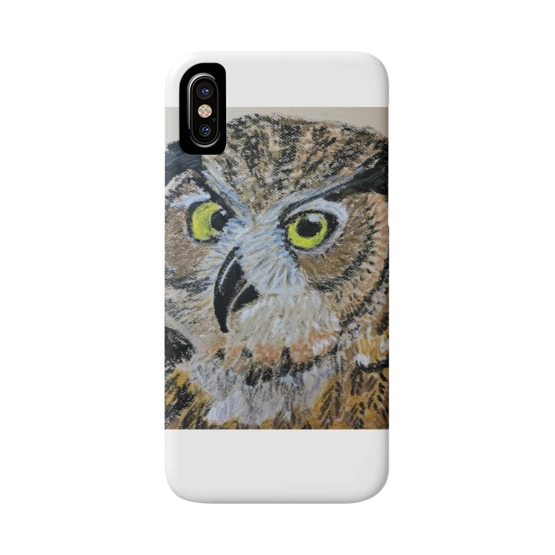 Great Horned Owl Accessories Phone Case by Whimsical Wildlife Wares