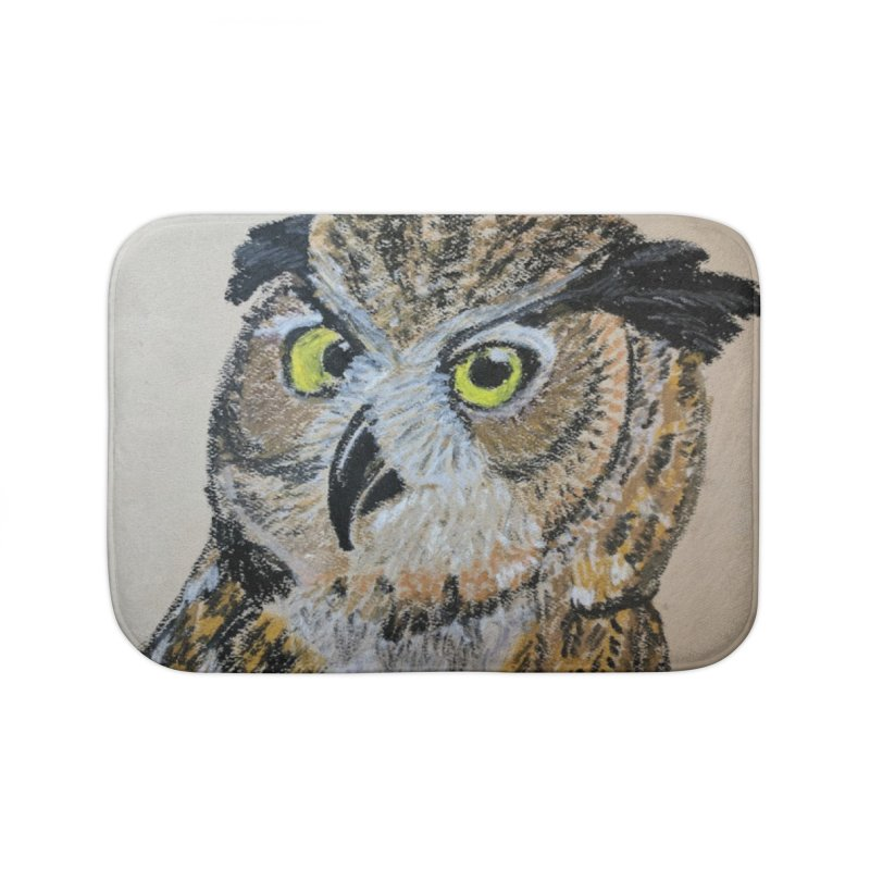 Great Horned Owl Home Bath Mat by Whimsical Wildlife Wares
