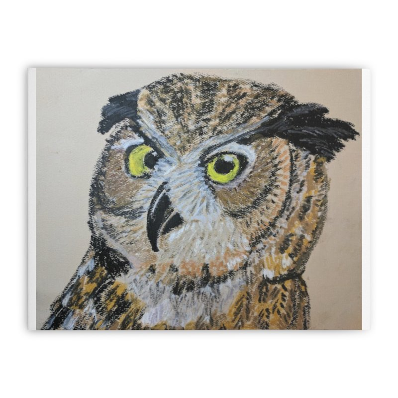 Great Horned Owl Home Stretched Canvas by Whimsical Wildlife Wares