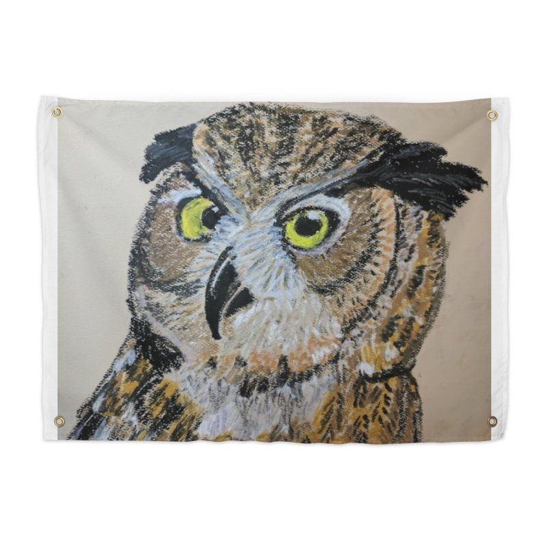 Great Horned Owl Home Tapestry by Whimsical Wildlife Wares