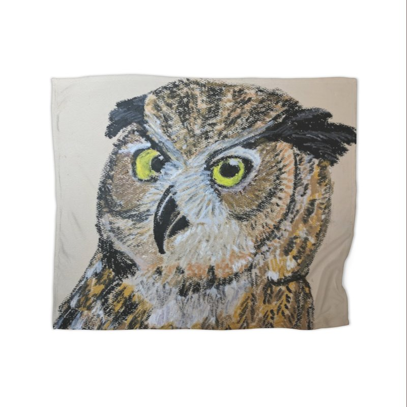 Great Horned Owl Home Blanket by Whimsical Wildlife Wares