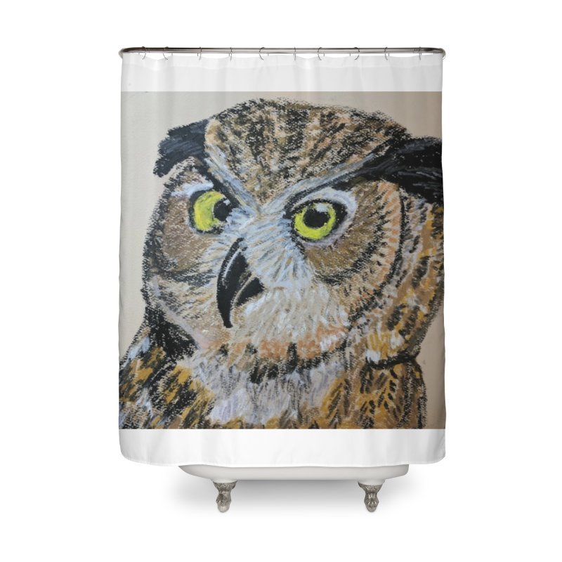 Great Horned Owl Home Shower Curtain by Whimsical Wildlife Wares