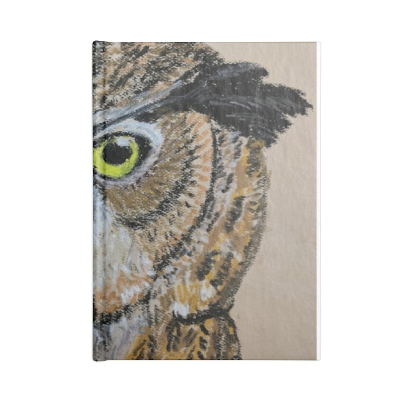 Great Horned Owl Accessories Notebook by Whimsical Wildlife Wares