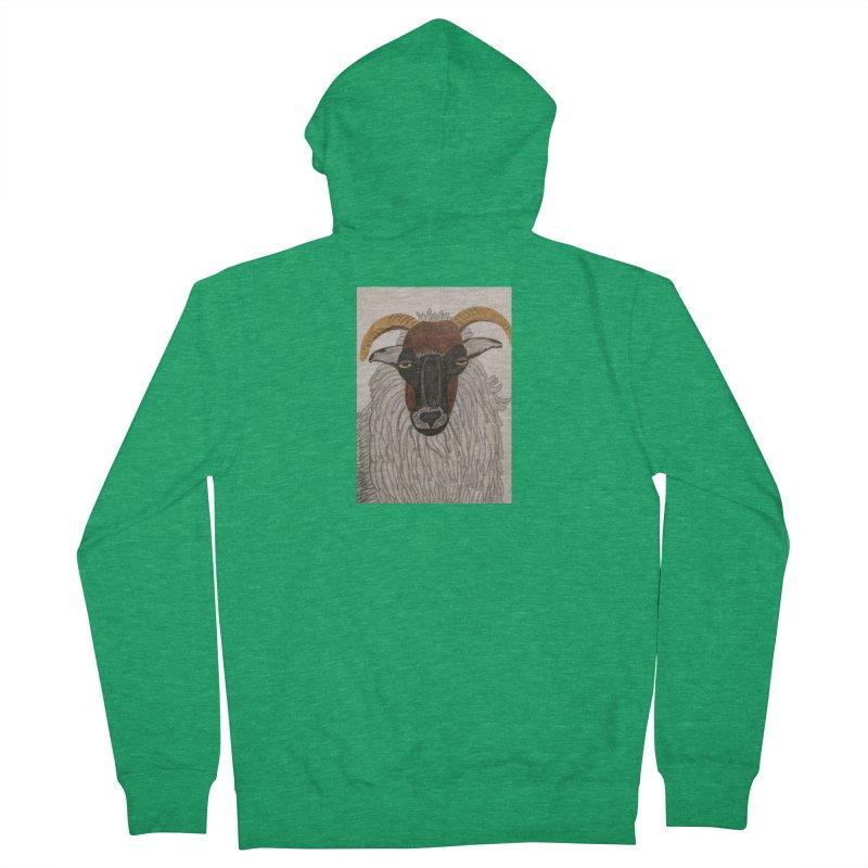 Irish sheep Men's Zip-Up Hoody by Whimsical Wildlife Wares