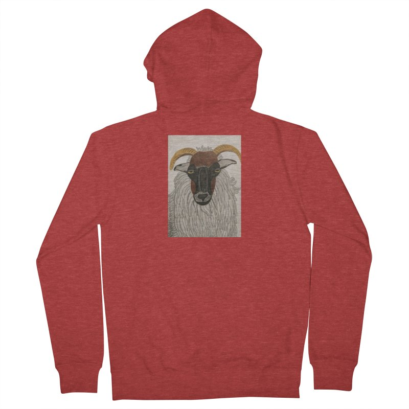 Irish sheep Men's Zip-Up Hoody by Whimsical Wildlife Wares