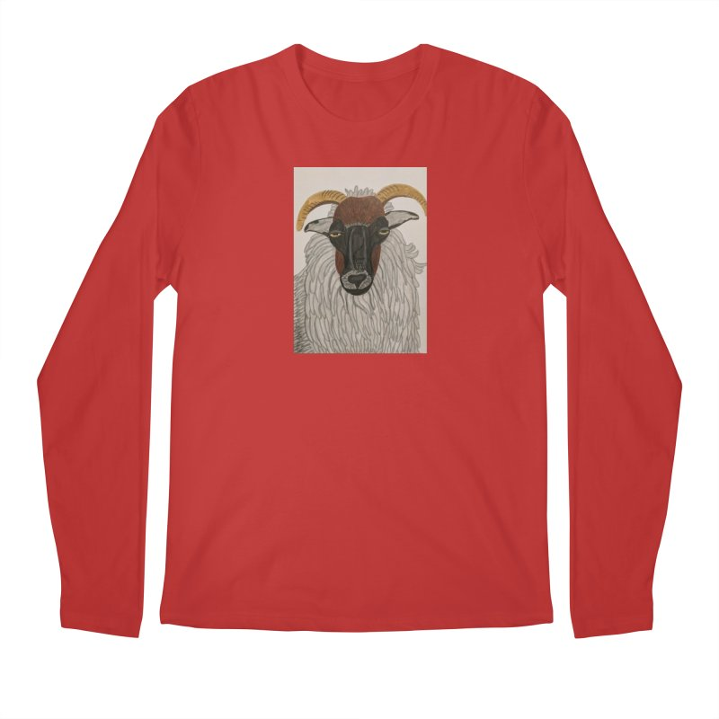 Irish sheep Men's Longsleeve T-Shirt by Whimsical Wildlife Wares