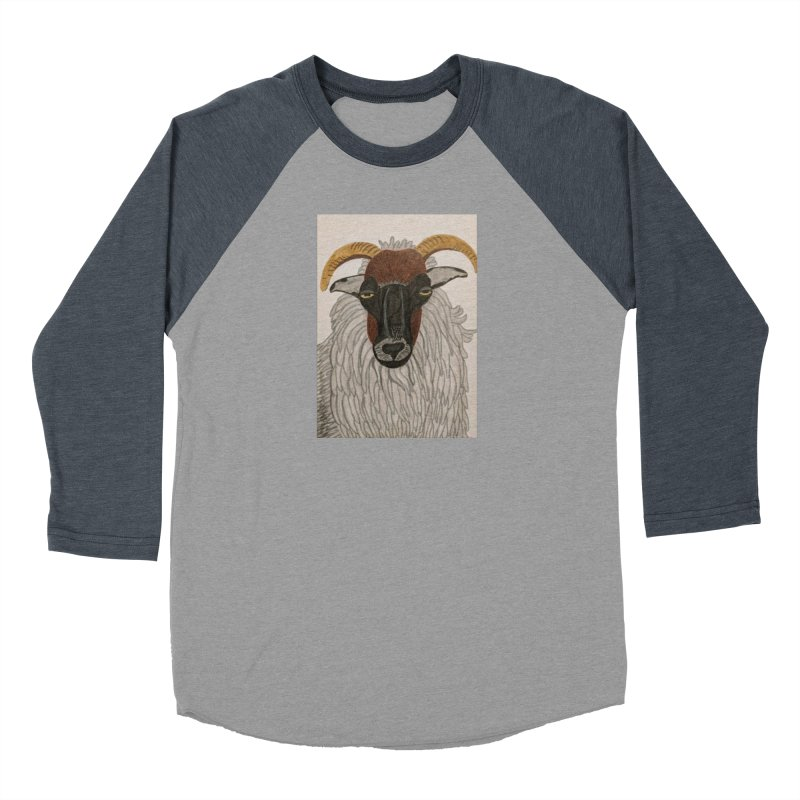 Irish sheep Women's Baseball Triblend T-Shirt by Whimsical Wildlife Wares