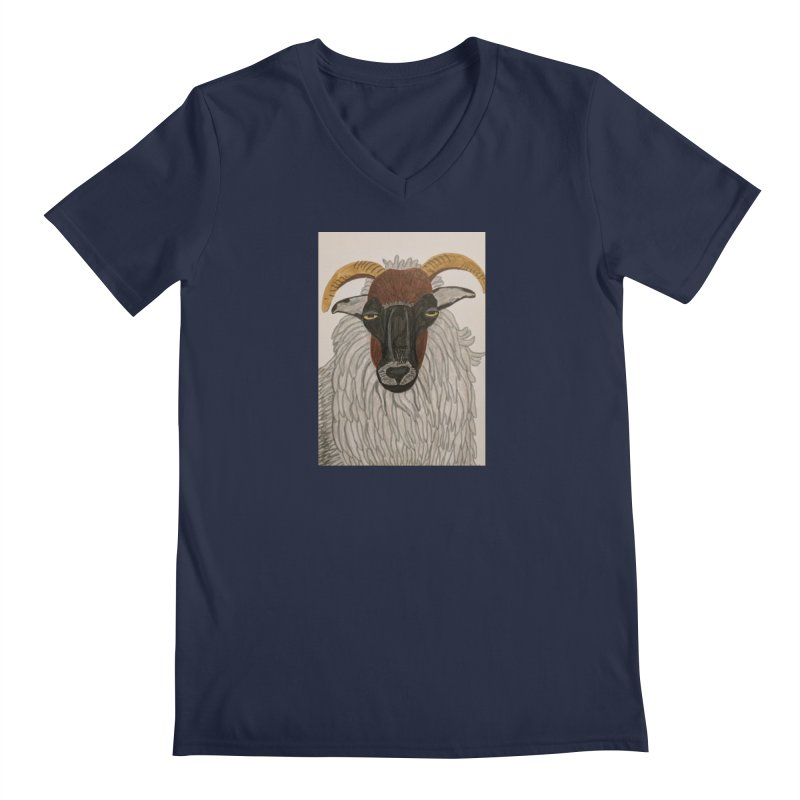 Irish sheep Men's V-Neck by Whimsical Wildlife Wares