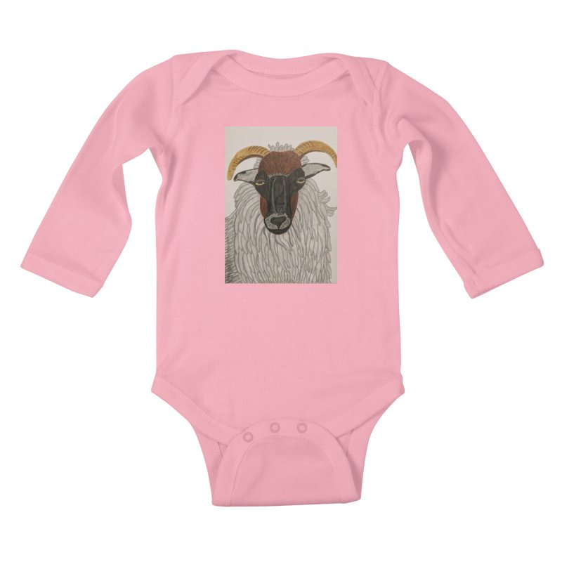 Irish sheep Kids Baby Longsleeve Bodysuit by Whimsical Wildlife Wares