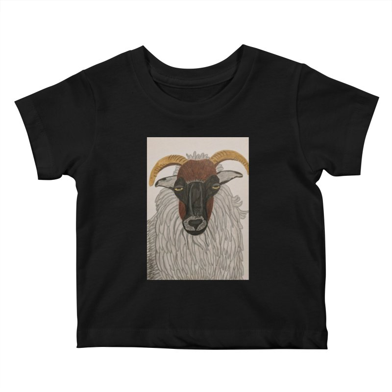 Irish sheep Kids Baby T-Shirt by Whimsical Wildlife Wares