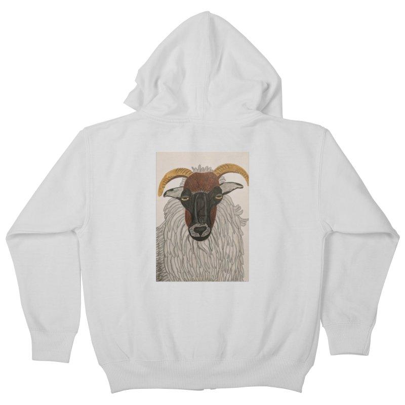 Irish sheep Kids Zip-Up Hoody by Whimsical Wildlife Wares