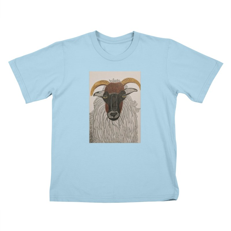 Irish sheep Kids T-Shirt by Whimsical Wildlife Wares