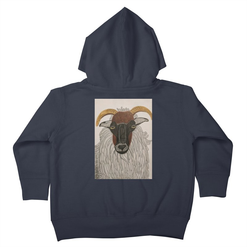Irish sheep Kids Toddler Zip-Up Hoody by Whimsical Wildlife Wares