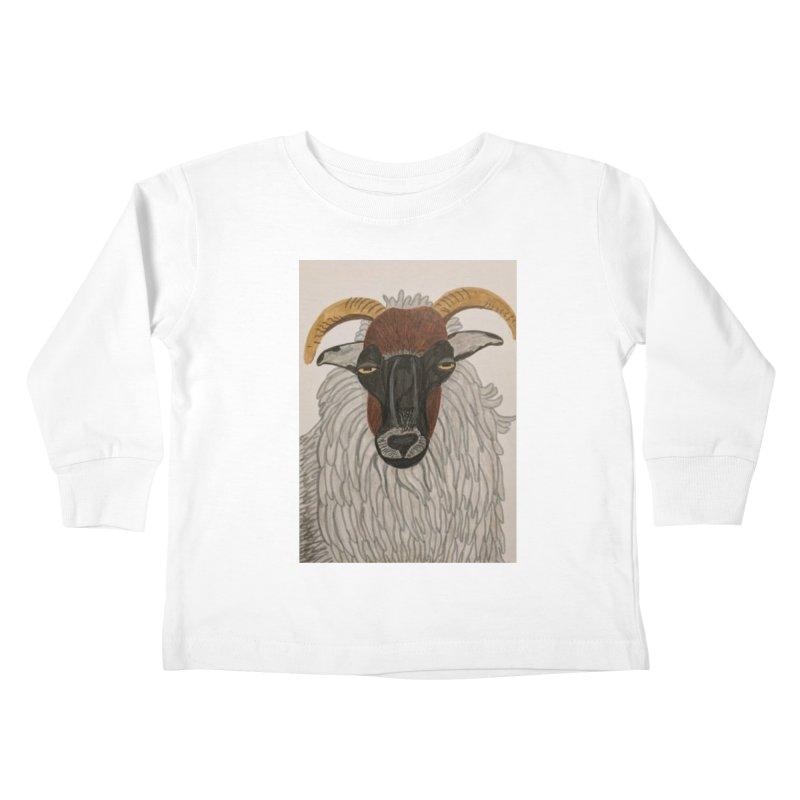 Irish sheep Kids Toddler Longsleeve T-Shirt by Whimsical Wildlife Wares