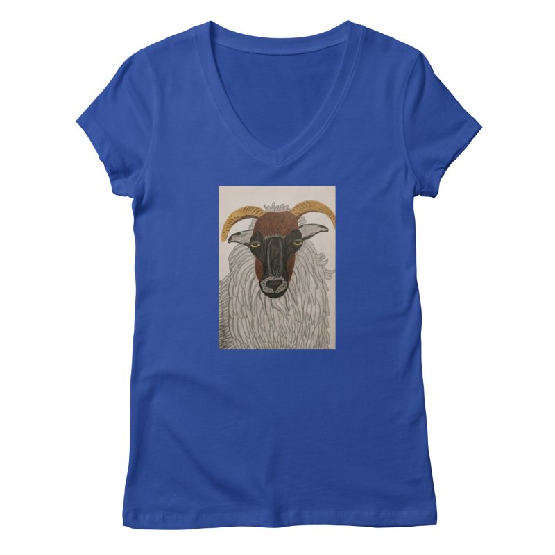Irish sheep Women's V-Neck by Whimsical Wildlife Wares