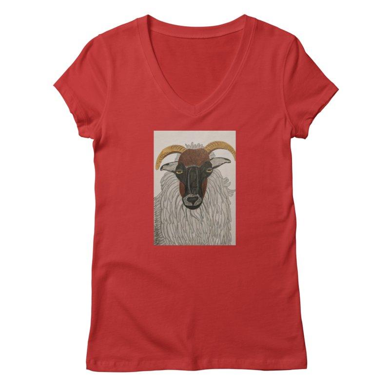 Irish sheep Women's V-Neck by Whimsical Wildlife Wares