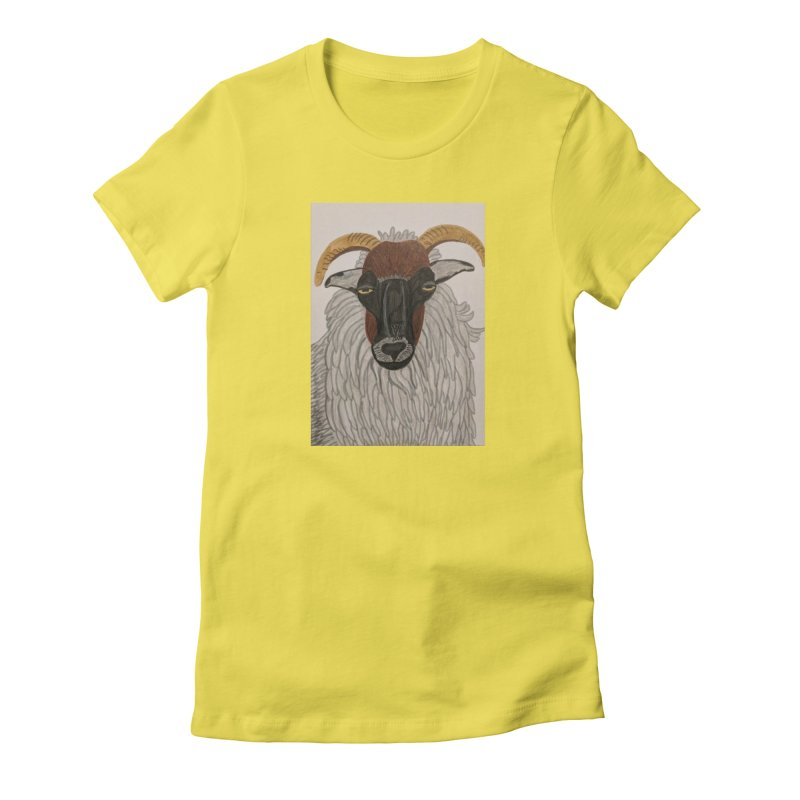 Irish sheep Women's Fitted T-Shirt by Whimsical Wildlife Wares