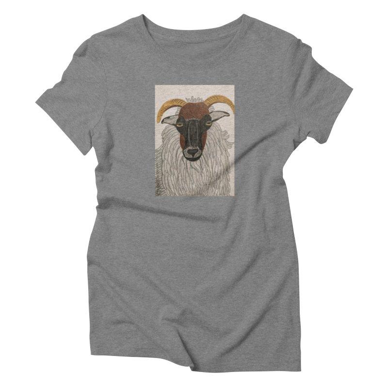 Irish sheep Women's Triblend T-Shirt by Whimsical Wildlife Wares
