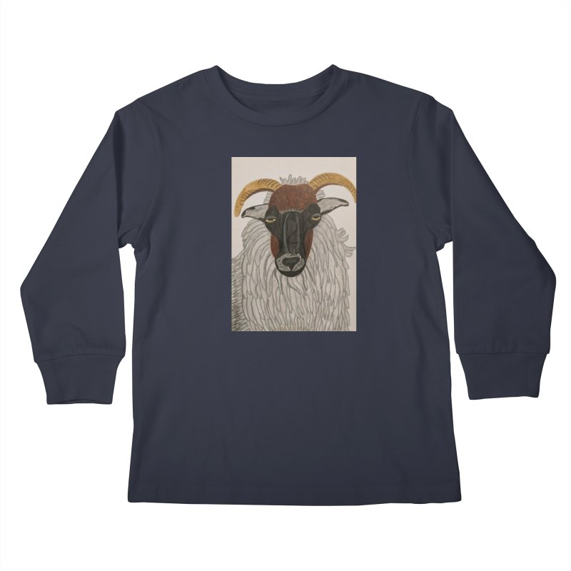 Irish sheep Kids Longsleeve T-Shirt by Whimsical Wildlife Wares