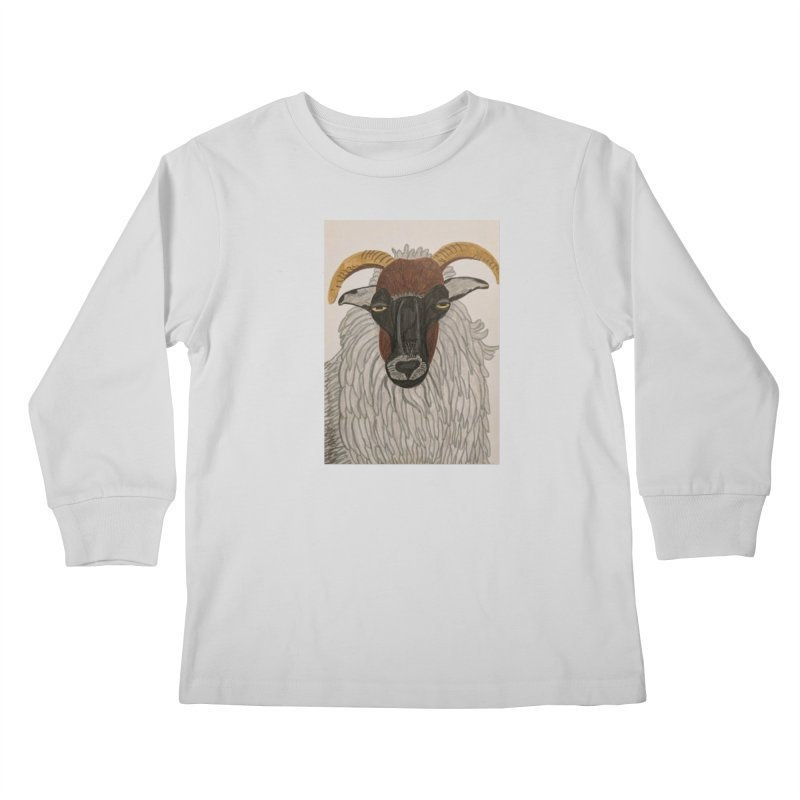 Irish sheep Kids Longsleeve T-Shirt by Whimsical Wildlife Wares