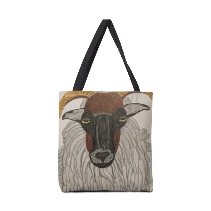 Irish sheep Accessories Bag by Whimsical Wildlife Wares