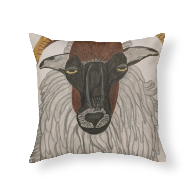 Irish sheep Home Throw Pillow by Whimsical Wildlife Wares
