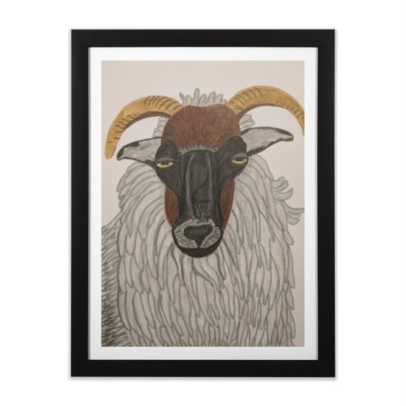 Irish sheep Home Framed Fine Art Print by Whimsical Wildlife Wares