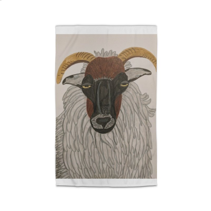 Irish sheep Home Rug by Whimsical Wildlife Wares