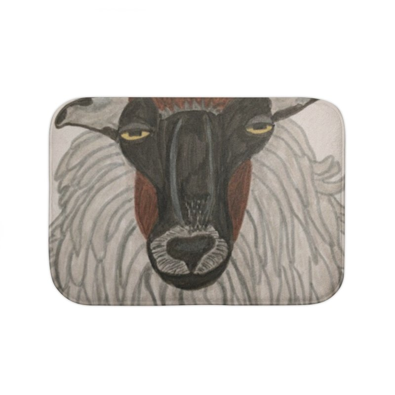 Irish sheep Home Bath Mat by Whimsical Wildlife Wares