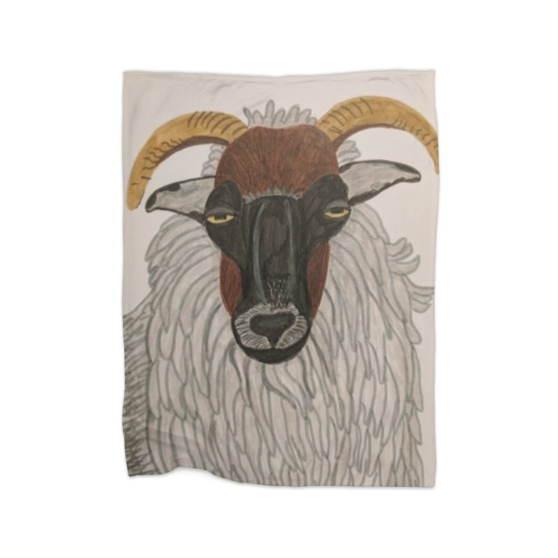 Irish sheep Home Blanket by Whimsical Wildlife Wares
