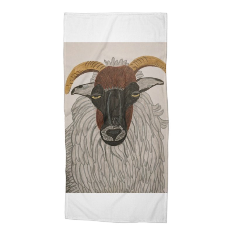 Irish sheep Accessories Beach Towel by Whimsical Wildlife Wares