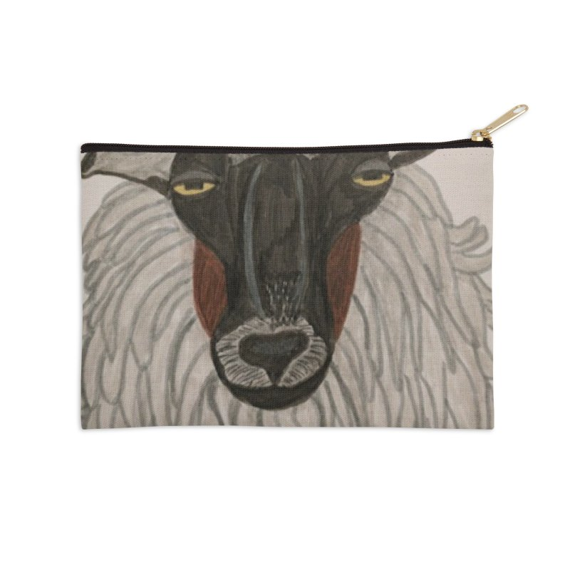 Irish sheep Accessories Zip Pouch by Whimsical Wildlife Wares