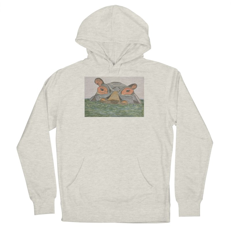 Hippo Women's Pullover Hoody by Whimsical Wildlife Wares