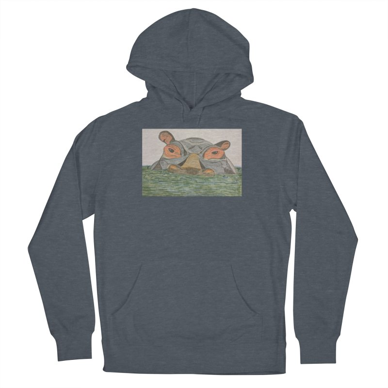 Hippo Men's Pullover Hoody by Whimsical Wildlife Wares