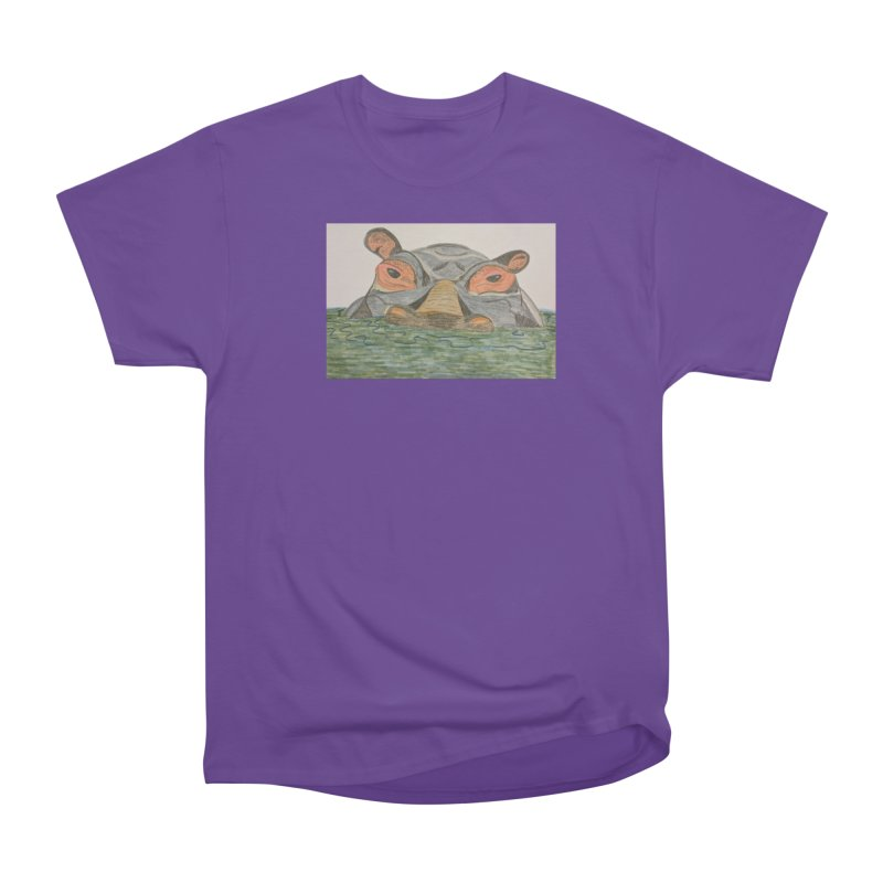 Hippo Women's Classic Unisex T-Shirt by Whimsical Wildlife Wares
